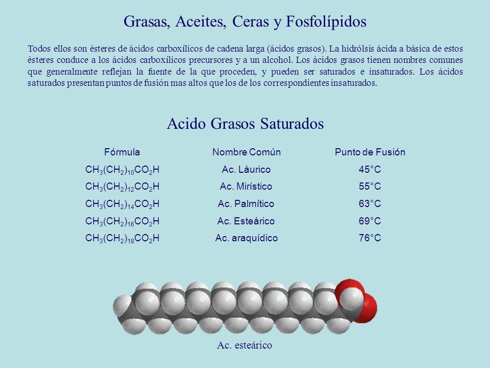 Grasas, Aceites, Ceras y Fosfolípidos