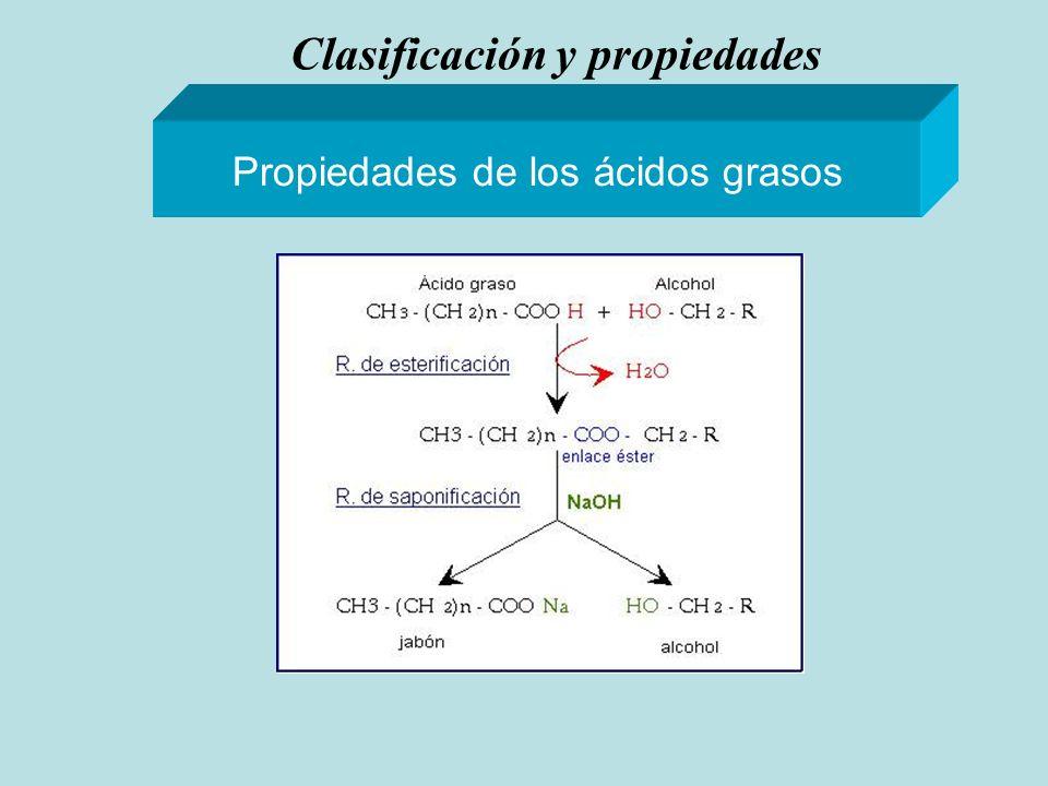 Clasificación y propiedades