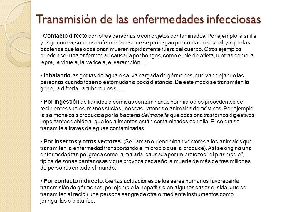 Transmisión de las enfermedades infecciosas