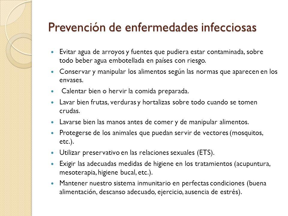 Prevención de enfermedades infecciosas