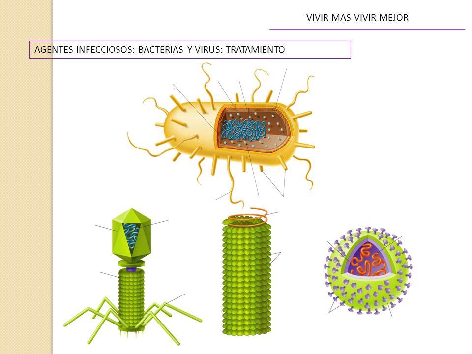 VIVIR MAS VIVIR MEJOR AGENTES INFECCIOSOS: BACTERIAS Y VIRUS: TRATAMIENTO