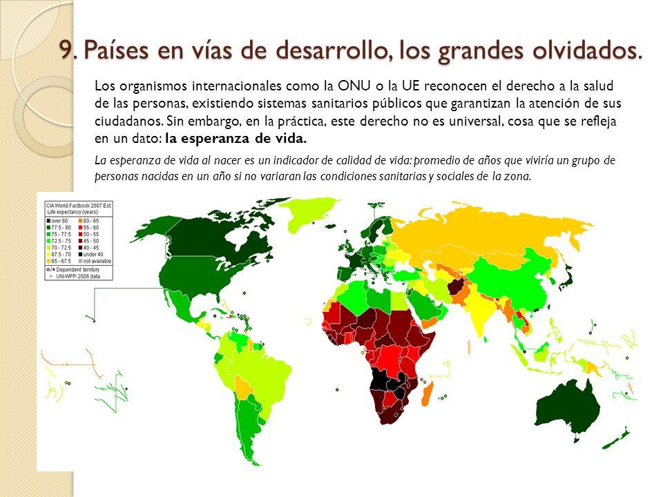 9. Países en vías de desarrollo, los grandes olvidados.