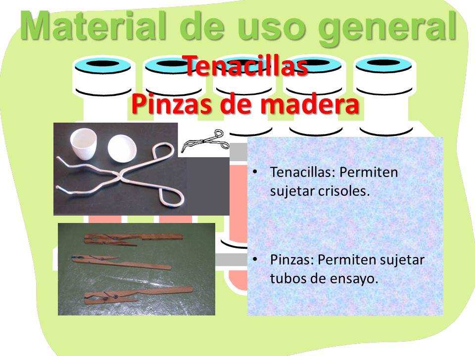 Material de uso general Tenacillas Pinzas de madera