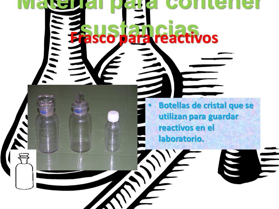 Material para contener sustancias