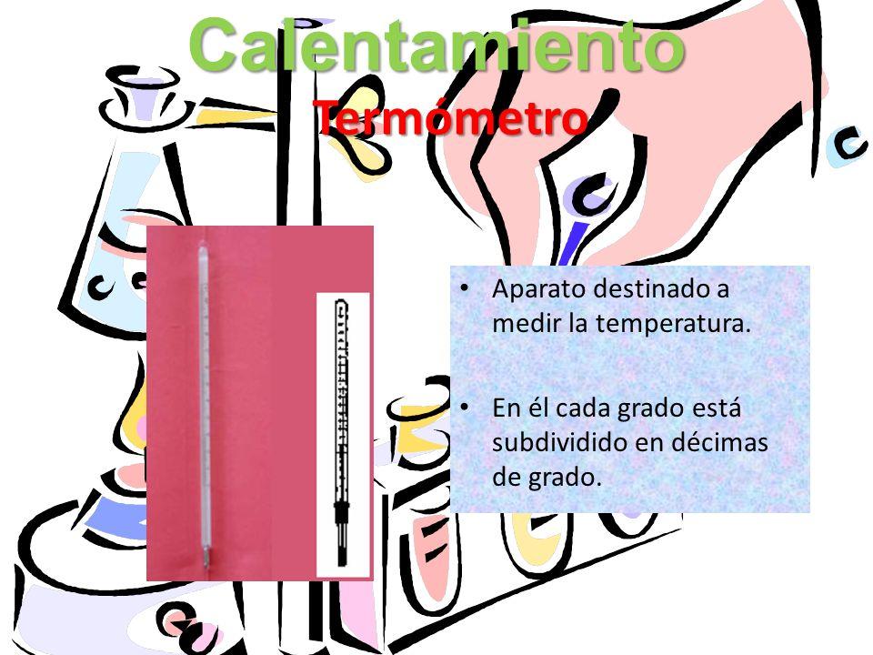 Calentamiento Termómetro Aparato destinado a medir la temperatura.