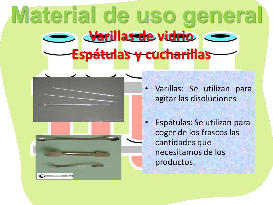 Material de uso general Varillas de vidrio Espátulas y cucharillas
