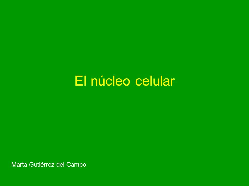 El núcleo celular Marta Gutiérrez del Campo