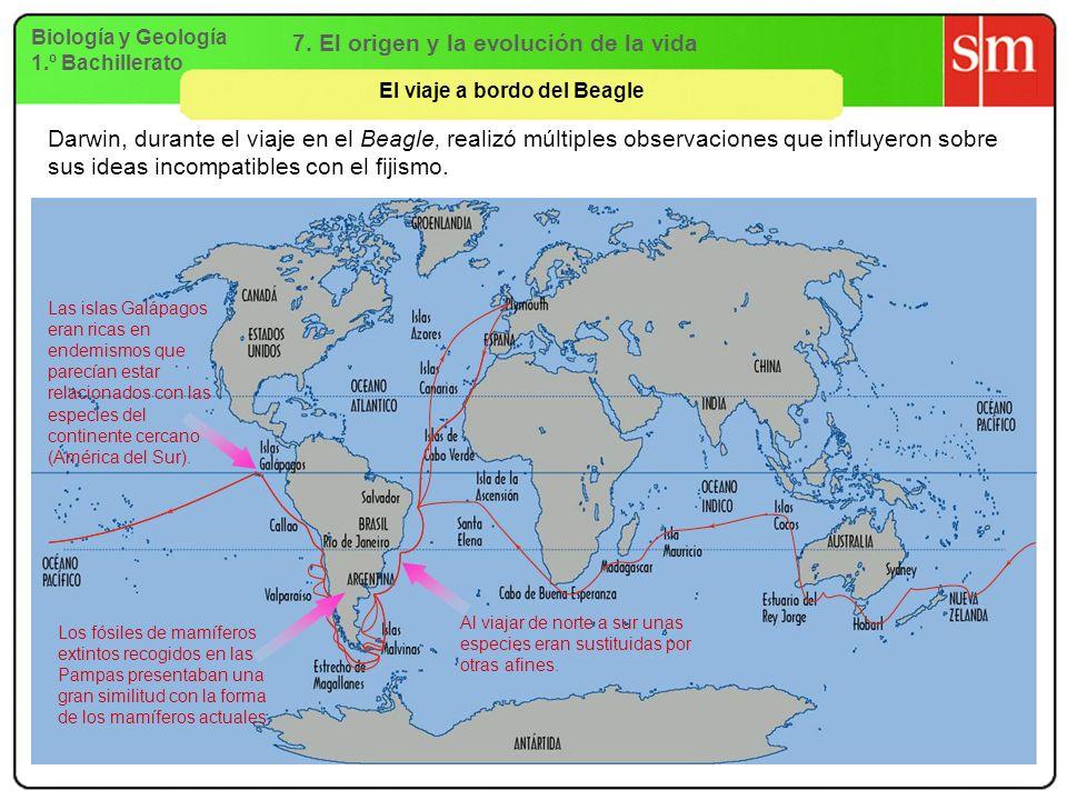 7. El origen y la evolución de la vida El viaje a bordo del Beagle