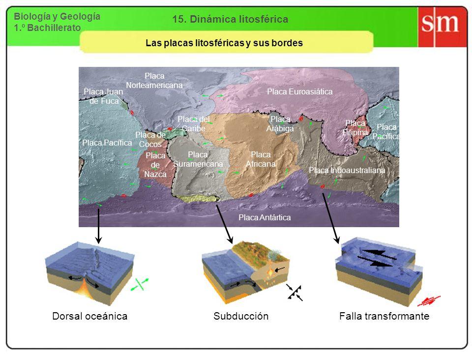Las placas litosféricas y sus bordes