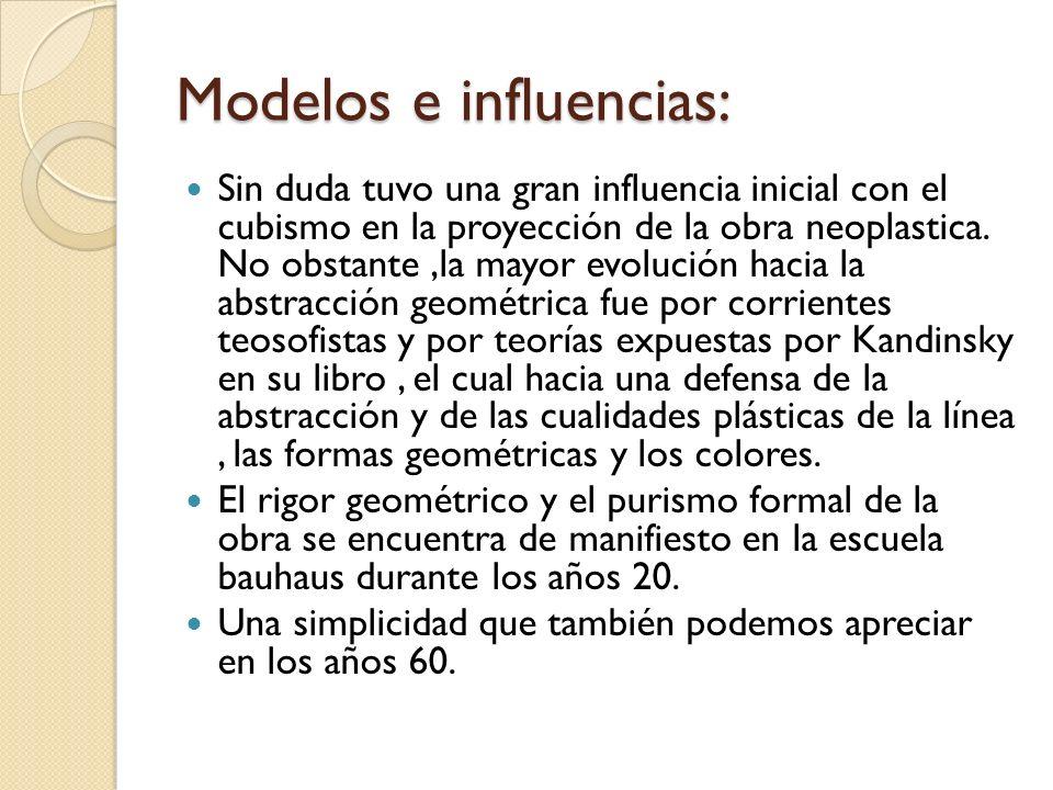 Modelos e influencias: