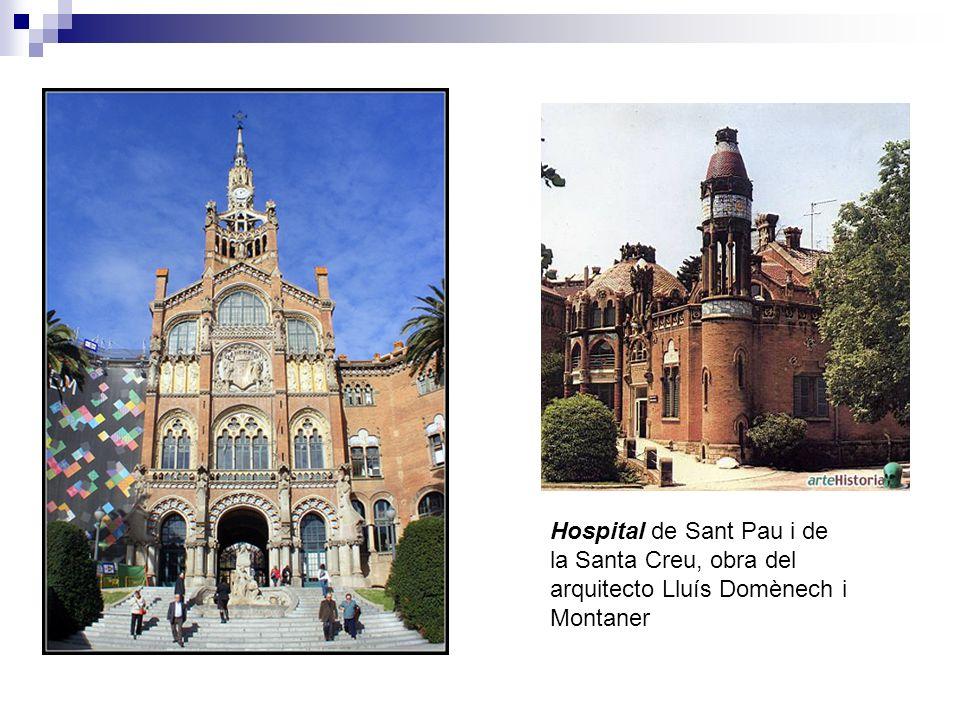 Hospital de Sant Pau i de la Santa Creu, obra del arquitecto Lluís Domènech i Montaner