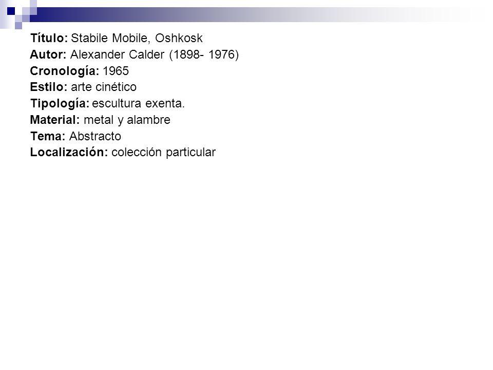 Título: Stabile Mobile, Oshkosk