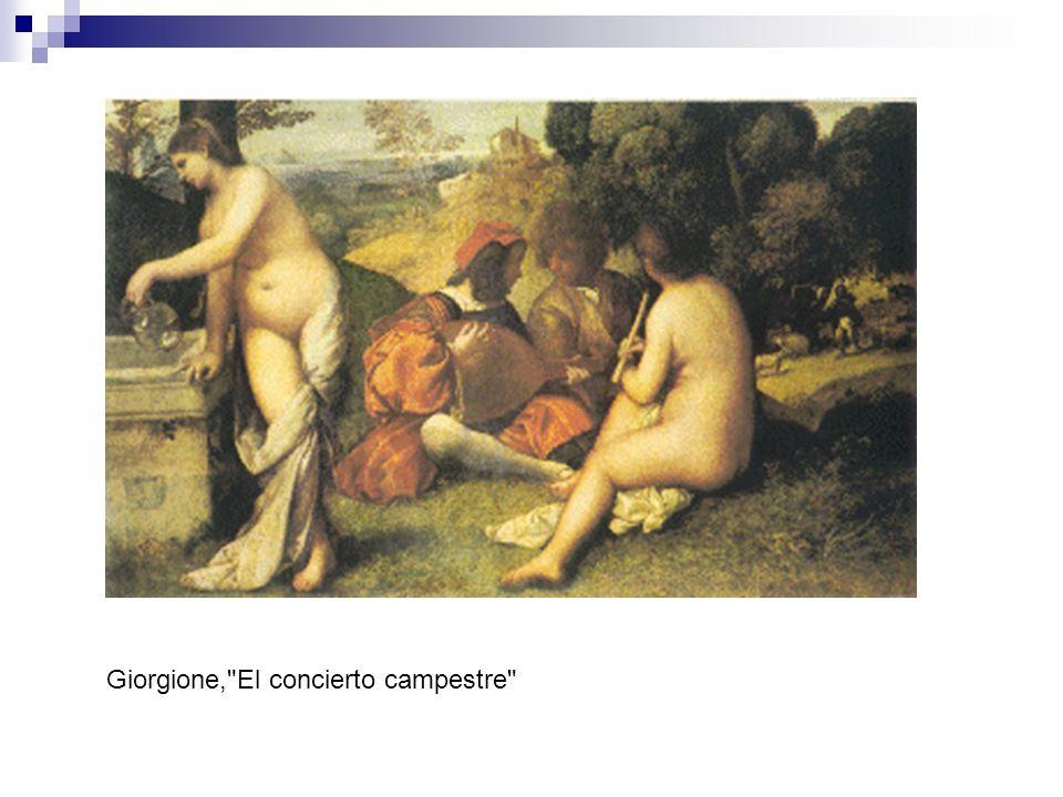 Giorgione, El concierto campestre