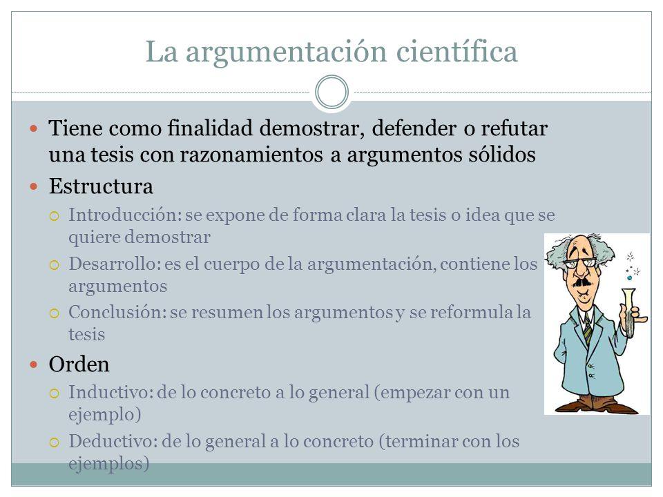 La argumentación científica