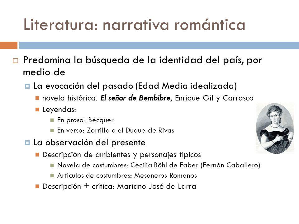 Literatura: narrativa romántica