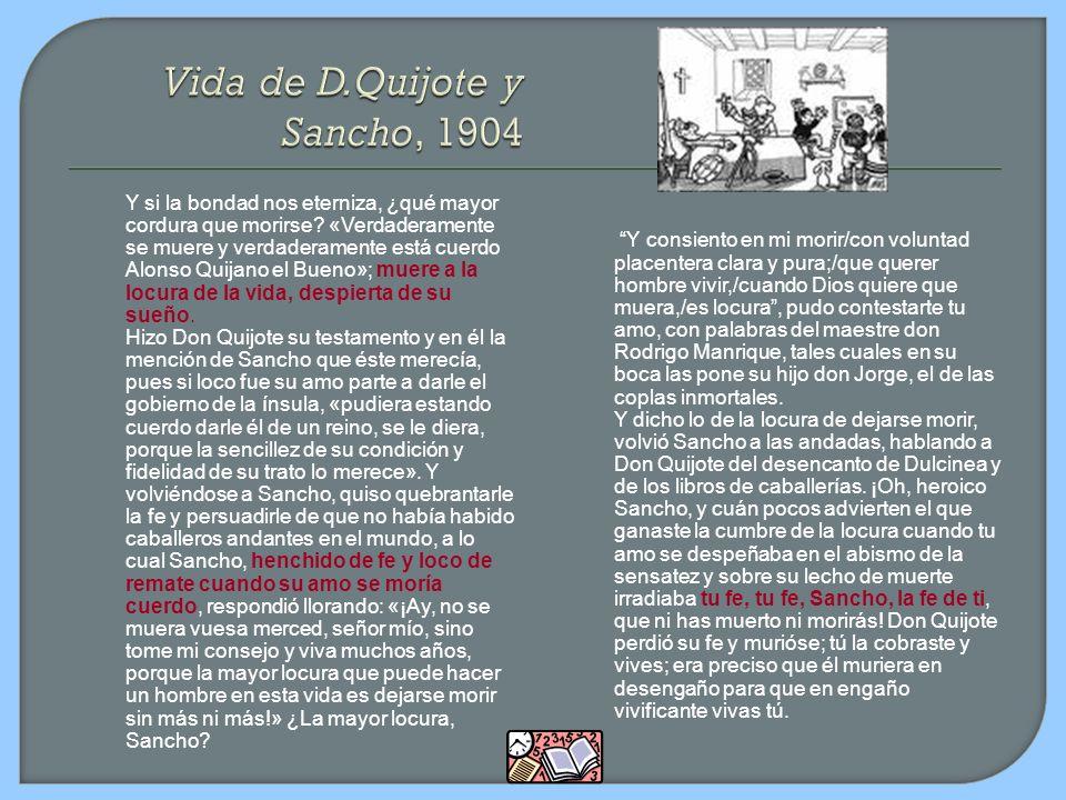 Vida de D.Quijote y Sancho, 1904