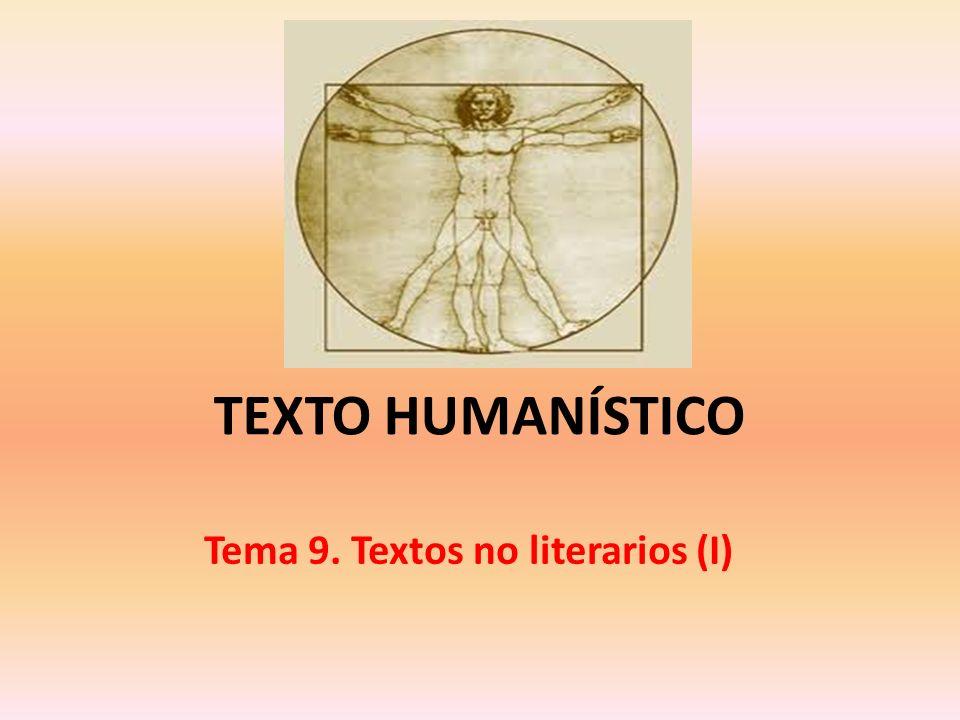 Tema 9. Textos no literarios (I)