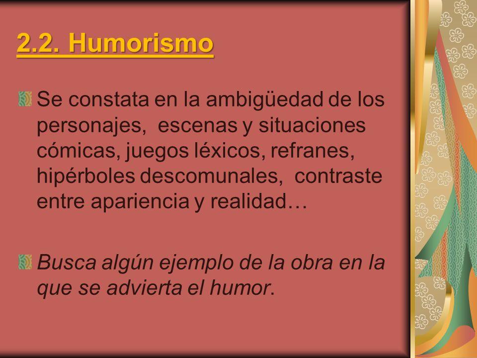 2.2. Humorismo