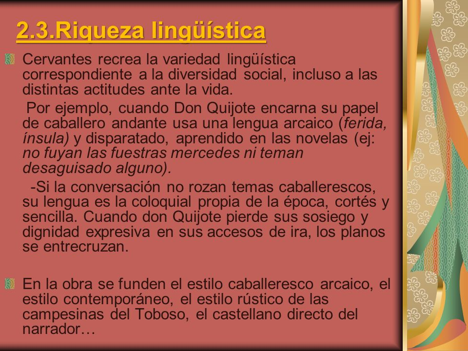 2.3.Riqueza lingüística