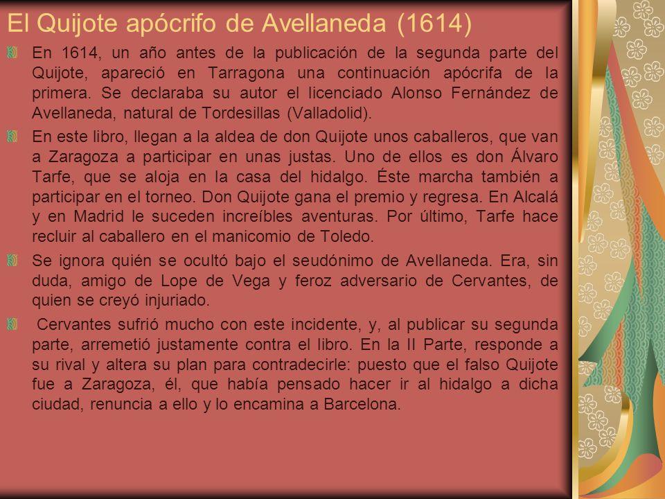 El Quijote apócrifo de Avellaneda (1614)