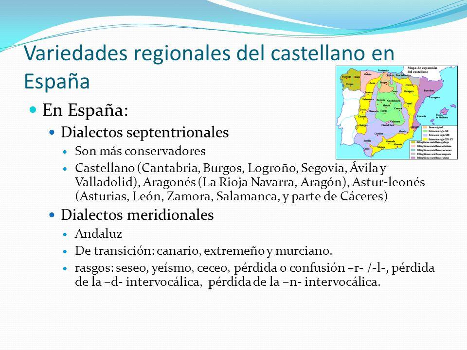 Variedades regionales del castellano en España