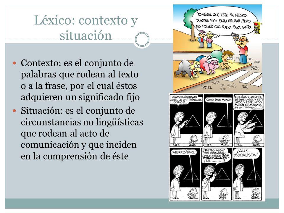 Léxico: contexto y situación