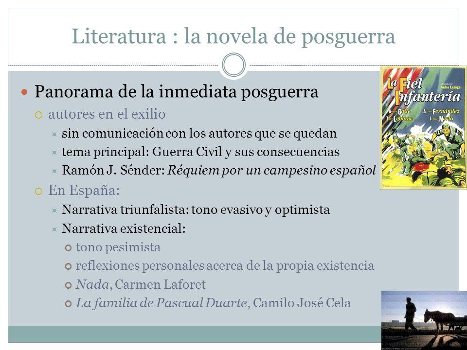 Literatura : la novela de posguerra