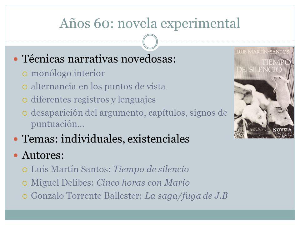 Años 60: novela experimental