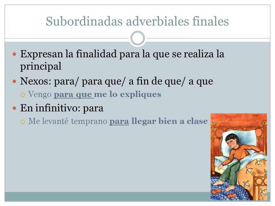 Subordinadas adverbiales finales