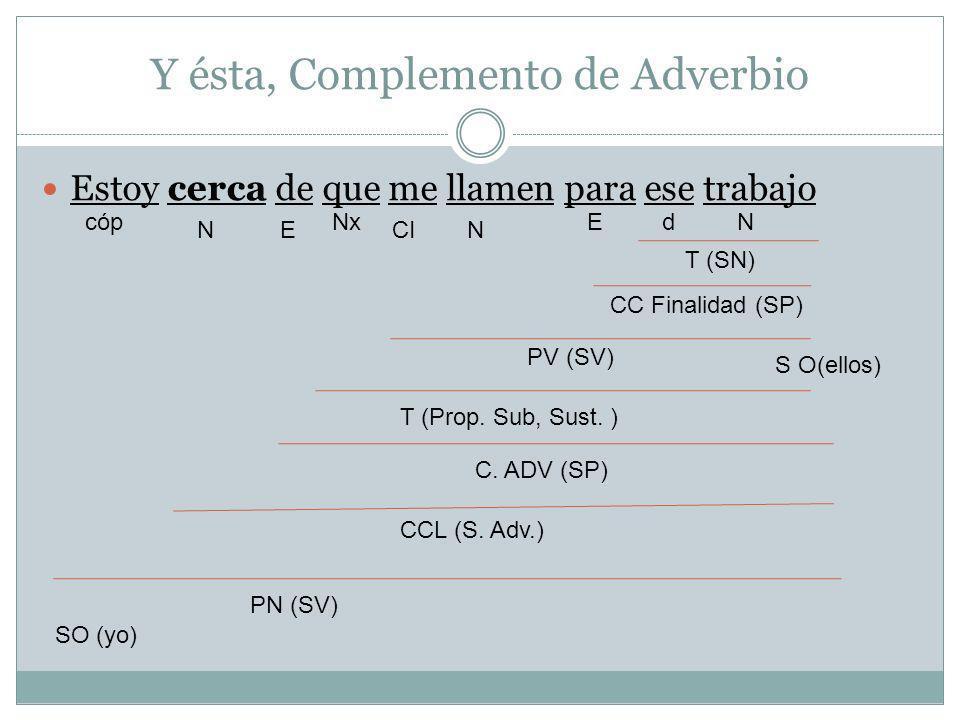 Y ésta, Complemento de Adverbio