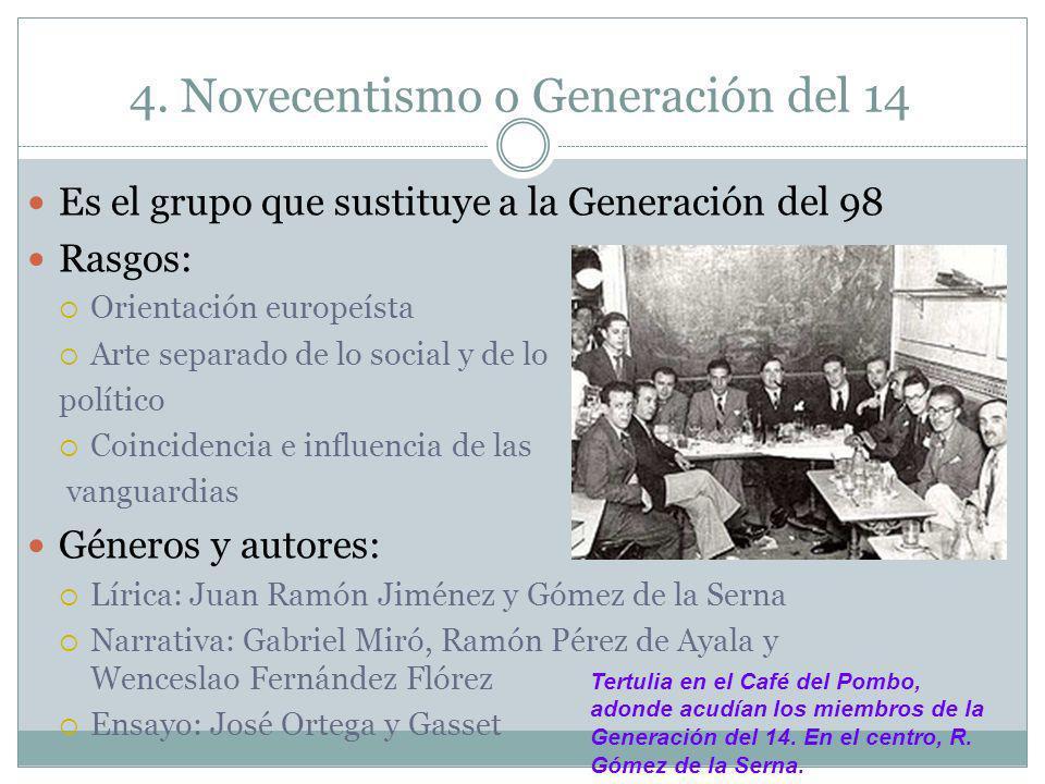4. Novecentismo o Generación del 14