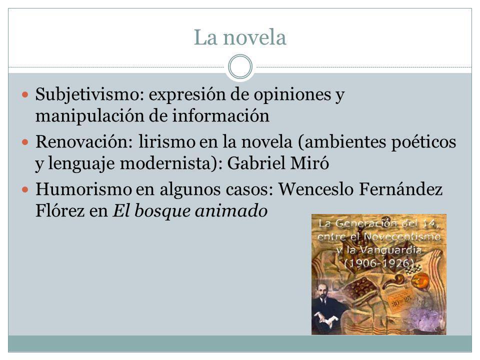 La novela Subjetivismo: expresión de opiniones y manipulación de información.