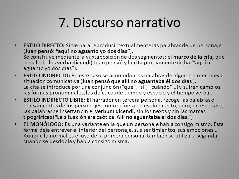 7. Discurso narrativo