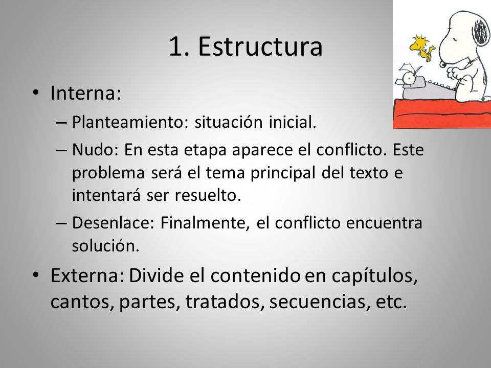 1. Estructura Interna: Planteamiento: situación inicial.
