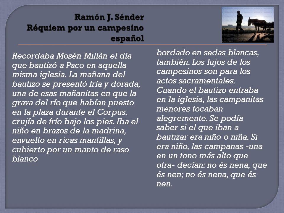 Ramón J. Sénder Réquiem por un campesino español