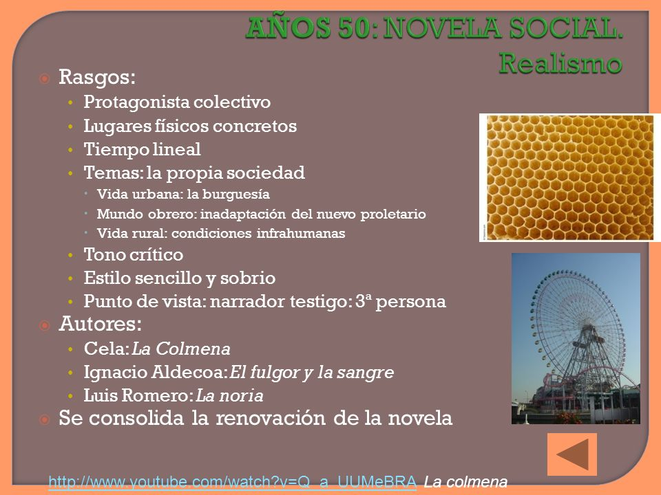 AÑOS 50: NOVELA SOCIAL. Realismo