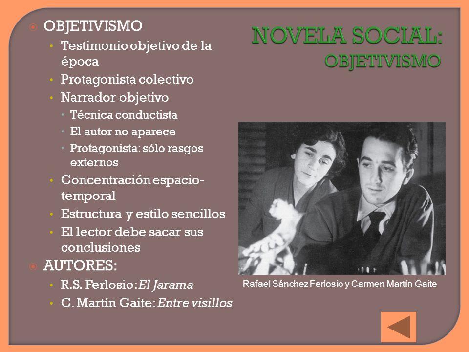 NOVELA SOCIAL: OBJETIVISMO