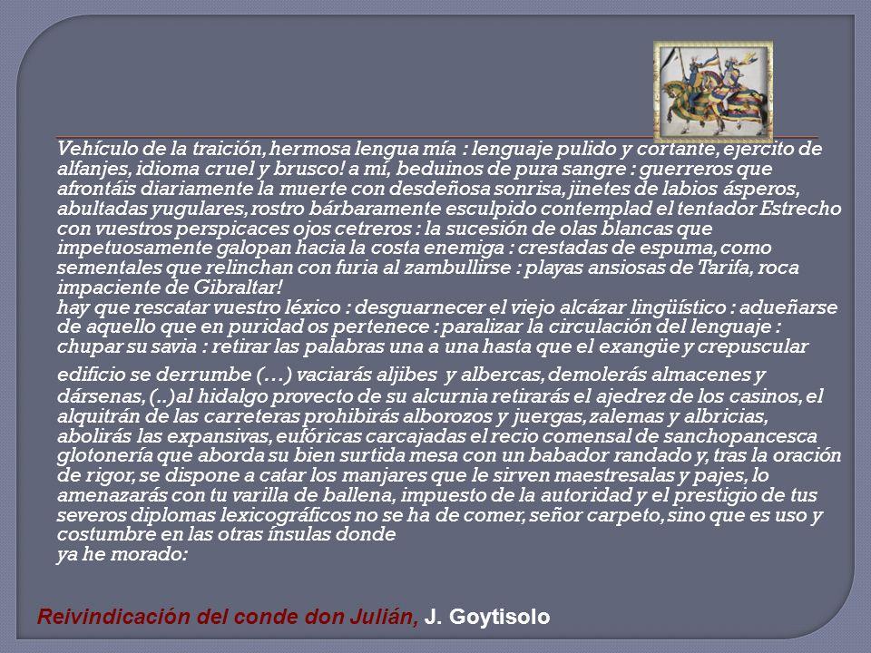 Reivindicación del conde don Julián, J. Goytisolo