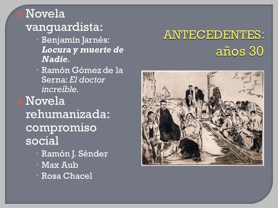 Novela rehumanizada: compromiso social ANTECEDENTES: años 30