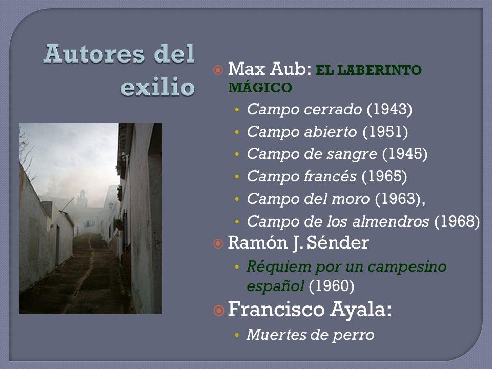 Autores del exilio Francisco Ayala: Max Aub: EL LABERINTO MÁGICO