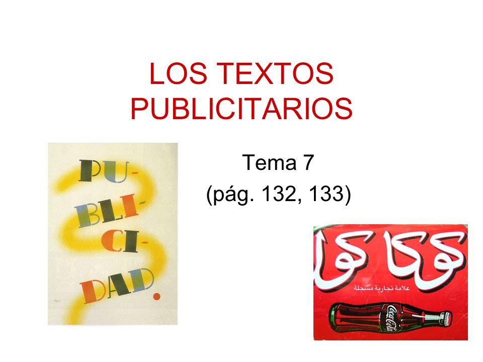 LOS TEXTOS PUBLICITARIOS