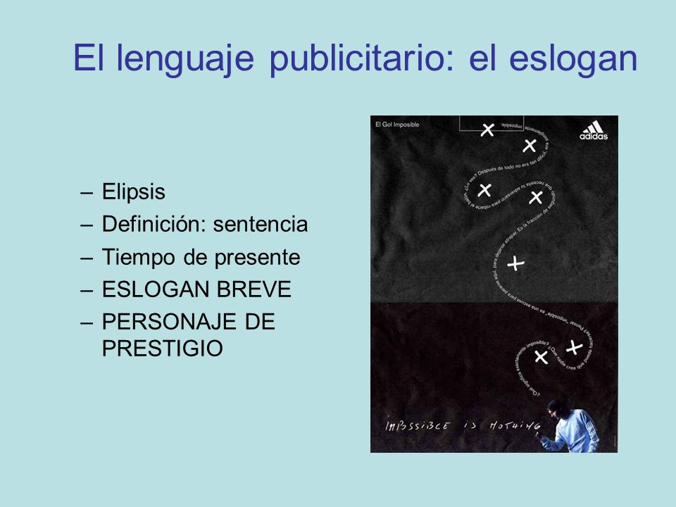 El lenguaje publicitario: el eslogan