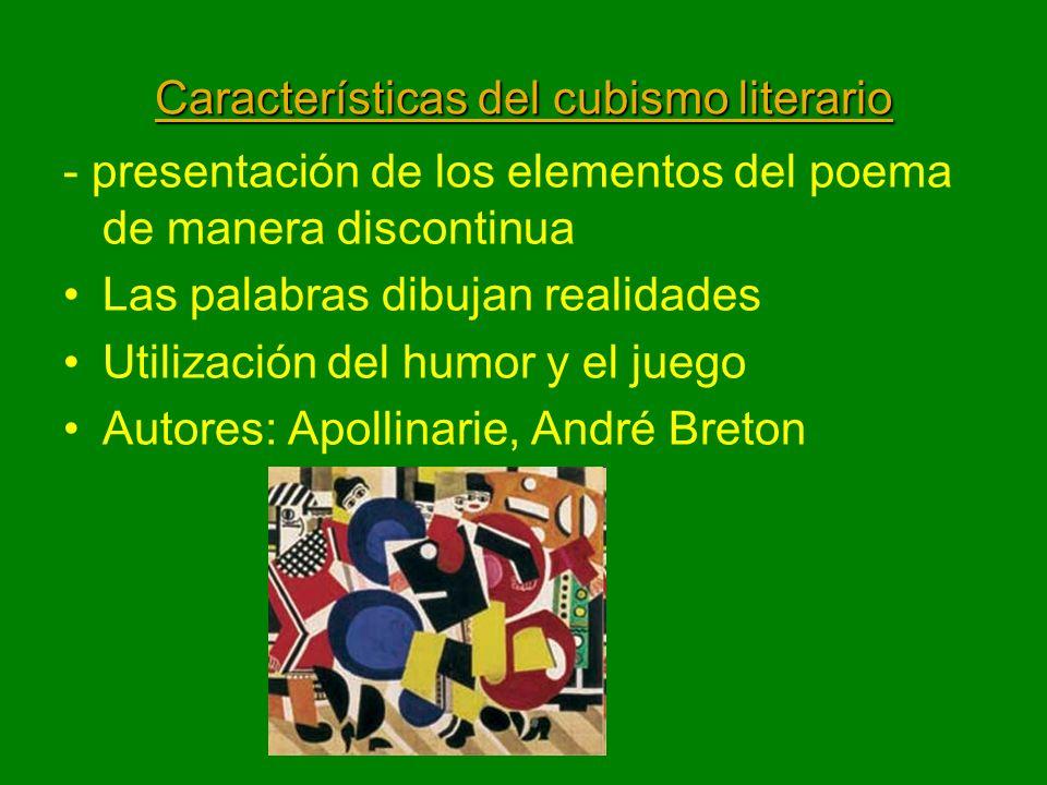 Características del cubismo literario