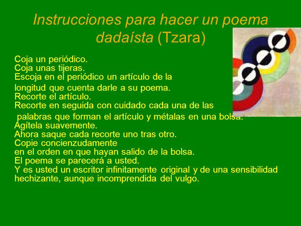 Instrucciones para hacer un poema dadaísta (Tzara)