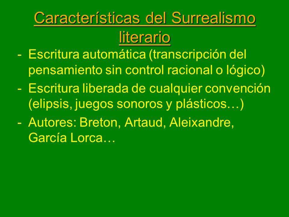 Características del Surrealismo literario