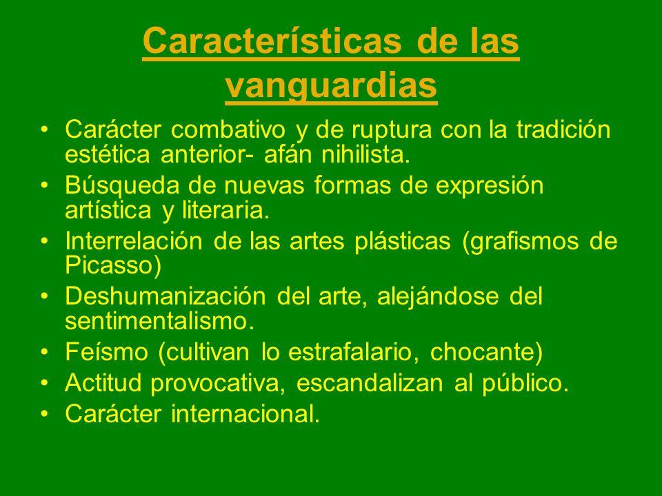 Características de las vanguardias