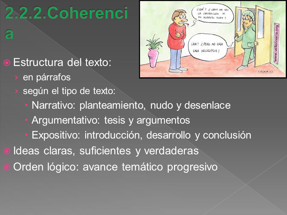 2.2.2.Coherencia Estructura del texto: