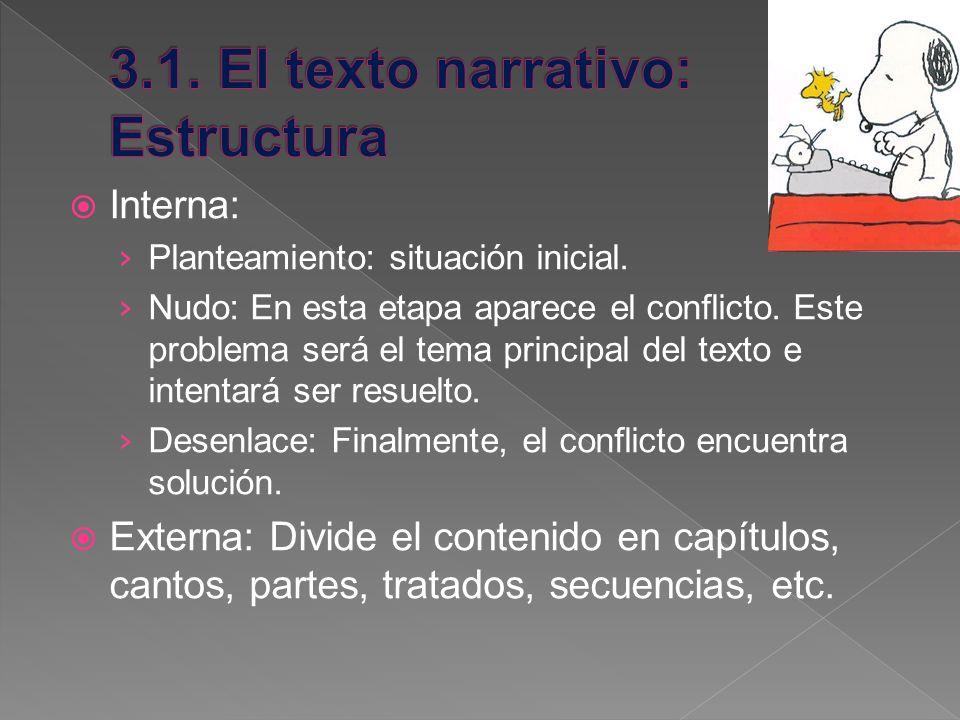 3.1. El texto narrativo: Estructura