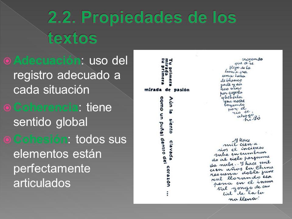 2.2. Propiedades de los textos
