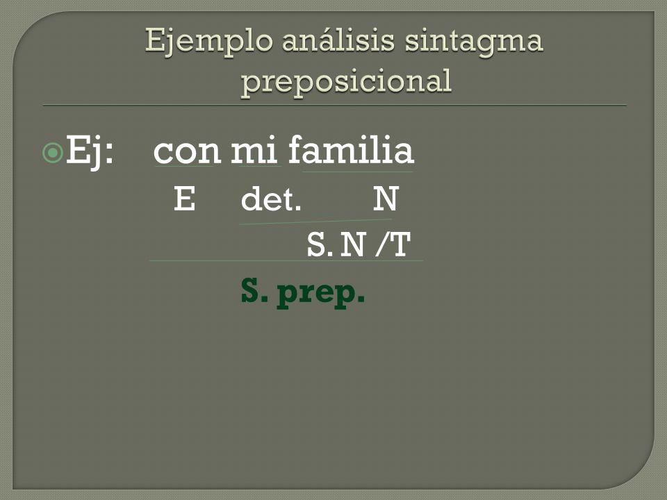 Ejemplo análisis sintagma preposicional